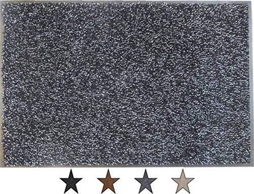 """oKu-Tex Fußmatte   Schmutzfangmatte   \""""Eco-Dry\""""  Grau   Baumwolle   Recycling-Gummi   für innen   Eingangsbereich / Haustür / Flur   rutschfest   40x60 cm"""
