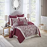 Vue Signature Mercer Comforter Set, King, Burgundy