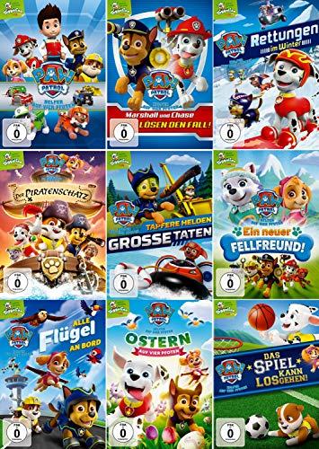 Paw Patrol - Volume 1-9 (Nickelodeon) im Set - Deutsche Originalware [9 DVDs] -