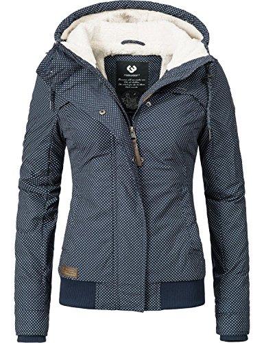 Ragwear Damen Jacke Winterjacke Ewok (vegan hergestellt) Navy Gr. L
