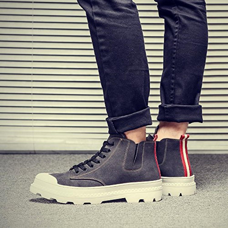 HL-PYL-Alta zapatos botas zapatos Gobon All-Match Martin,44,gris