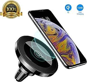 Usams Induktion Handyhalterung Fürs Auto Magnet Qi Kfz Handy Halterung Induktiv Wireless Charger Handyhalter Lüftung Autohalterung Für Iphone X 8 8 Plus Samsung Galaxy S9 S8 S7 S6 Edge Note 8 5