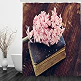 liuhoueGemütlicher dusche vorhang3d bücher auf dem hyazinthe bad wand vorhang wasserdicht moistureproof mold-free vorhang-taobao-A 150cm*180cm