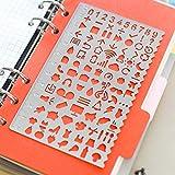 Amupper Pochoirs métalliques pour agenda planificateur  à longue durée de vie avec beaucoup de motifs graphiques