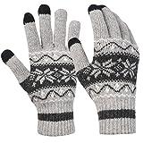 Novawo Samtartig Touchscreen Handschuhe für Smartphone im Winter
