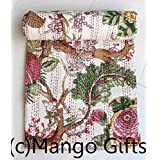 Pure Cotton Gudri Nueva Kantha Stitch edredón Floral Twin Size Bed Spread... 60 x 90 cm aprox. Por mango Regalos