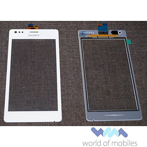 Touch Panel Digitizer (Sony Xperia M (C1904 C1905), Xperia M Dual (C2004 C2005) Touchscreen, Touch Panel, Digitizer, Scheibe, Weiss, white)
