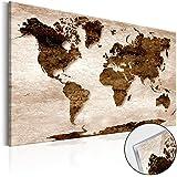Novedad! Moderno Cuadro de cristal acrílico 60x40 cm - 2 tamaños opcionales - Cuadro de acrílico – TOP – Cuadro - Impresion en calidad fotografica Mapamundi Mundi Mapa k-B-0022-k-d 60x40 cm