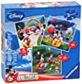 Ravensburger 25 36 49 Disney Mickey Mouse Club House - Juego de 3 puzzles de Ravensburger