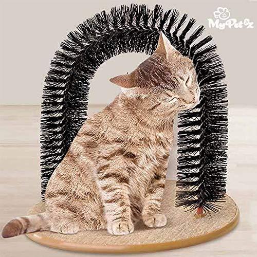 Trade Shop traesiospazzola Massagegerät für Katzen Bogen Bogen für Katzen mit Base Kratzbaum -