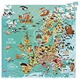 Vilac vilac2729 French Version Europa Karte Karton Puzzle (300)