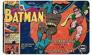DC Comics Planche pour petit déjeuner vintage Motif Batman et Robin, le duo dynamique