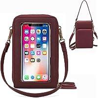 Damen Handtaschen Schultertasche Damen Handytaschen Umhängetasche Kunstleder Schultertasche 3 Reißverschluss Beutel mit…