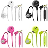 CBGGQ 4 Paia Auricolari In-Ear Cuffie con Microfono e Controllo del Volume, Cuffie In-Ear con Suono puro e Bassi Potenti, Iso