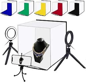 Ccdylq Tragbares Softbox Kit 30 30cm Light Box Studio Led Photo Lightbox 6 Farben Backdrops Für Tabletop Photography Led Lighting Box Küche Haushalt
