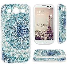 Asnlove para Samsung Galaxy S3 III I9300/S3 Neo i9301 cover funda carcasas de Gel TPU silicona transparente suave ultra delgada goma cubierta de tapa trasera case-Totem Flores