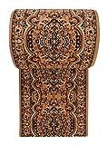 Läufer Teppich Flur in Beige - Orientalisch Muster - Kurzflor Teppichlaufer