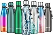 Newdora Bottiglia Acqua in Acciaio Inox 500ml, Tazze da Viaggio, Borraccia Termica Isolamento Sottovuoto a Doppia Parete, per