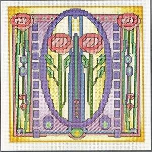 Mackintosh Rose pour carrelage–Kit broderie pour point de croix Motif
