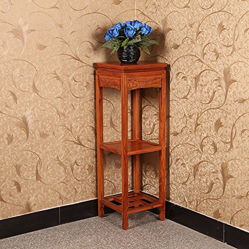 Limin Mahagoni Blume Regal Wohnzimmer Indoor mehrstöckigen Balkon chinesischen klassischen Palisander Racks Ecke Regale - Tisch Mahagoni-holz Gartenmöbel