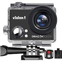 Dragon Touch Caméra Sport 1080P Action Caméra Caméscope Etanche sous l'eau avec Télécommande,Batterie Rechargeable…