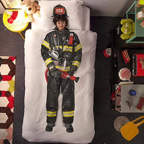 Snurk Firefighter Single Duvet Cover & Pillowcase 200 Thread Count 100% Cotton