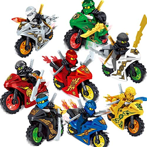 Zuionk 1PC Cartoon-Motorrad-Blöcke Kinder Educational Brick Building Sets Spielzeug
