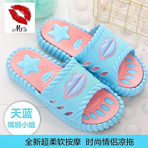 pantofole casa rimanere uomini da estivo plastica pantofole bagno vasca pantofole bagno slittamento per a anti DogHaccd Blu femmina di pavimento coppia cielo4 Cool carino ndFfqxdY