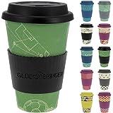 ebos Fortuna caffè-a-Go Tazze di bambù | Tazze di caffè, Tazze di Bevanda | degradabili nell'ambiente, riciclabile, Ecologico | Cibo Sicuro, Lavabile in lavastoviglie (Teamplayer)