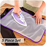 HOMIZE Easy & Iron Protection Scorch Saving Mesh Cloth Pressing Pad, 5 Pieces, Random Color