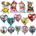 KRUCE 15 PC Paw Dog Patrol Birthday Party Foil Balloons, Paw Dog Patrol Foil Balloons for Kids Gift Fiesta de cumpleaños Suministros Decoración de KRUCE
