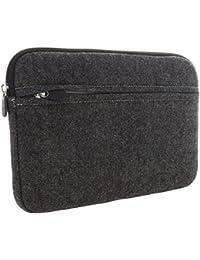 XiRRiX Laptoptasche 13 / 13,3 Zoll (33/33,8cm) Laptop Notebook 2in1 PC Ultrabook Macbook - Notebooktasche mit Zubehörfach - Tasche grau/schwarz
