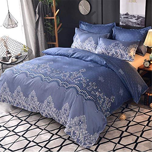 SHJIA Spitze Einfarbig Bettwäsche Set Bettbezug Set Bettwäsche Tröster Bett Leinen B 200x230cm - Und Lila Grün Tröster