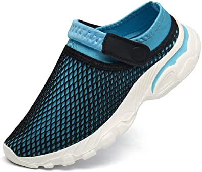 CELANDA Mens Womens Mesh Slippers Breathable Garden Clogs Shoes Anti-Slip Summer Beach Sandals Outdoor Comfort Walking Casual Mules Shoes