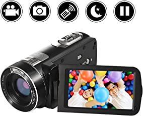 "Videocamera Camera Full HD 1080p 24.0MP Zoom digitale Fotocamera 18x 3.0""Schermo LCD 270 ° con telecomando"