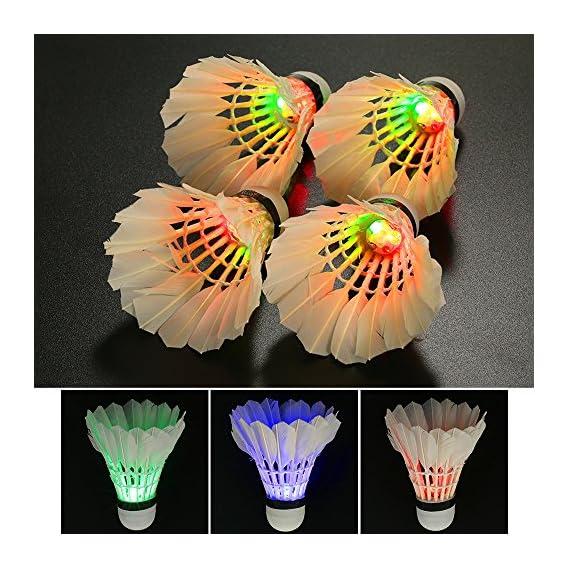 JERN LED Badminton Shuttlecocks Lighting Shuttlecock