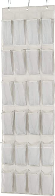 AmazonBasics 24 Pair Over-the-Door Shoe Organizer,White