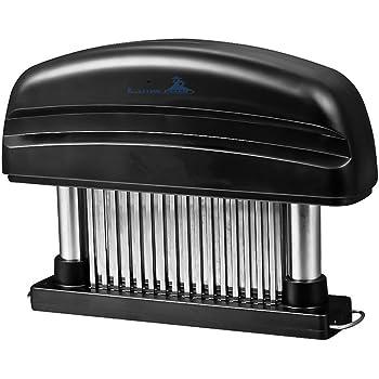 Fleisch-Tenderizer - Professionelles Kommerzielles Küchenwerkzeug mit 48 Klingen aus rostfreiem Stahl mit Rasiermesser(Black)