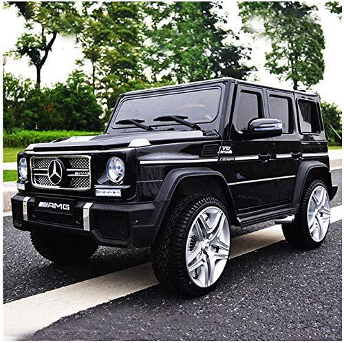 moleo Mercedes G65 AMG Kinder Auto Elektroauto Kinderauto Kinderfahrzeug Elektrofahrzeug mit LED-Beleuchtung, verschiedenen Sound- und Lichteffekten 2.4 GHz, Antrieb: 2X 45W Motor, (Black)*