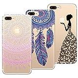 Yokata 3X Coques pour 3 en 1 iPhone 7 Etui Silicone Souple Étui Transparent Swag Gel...