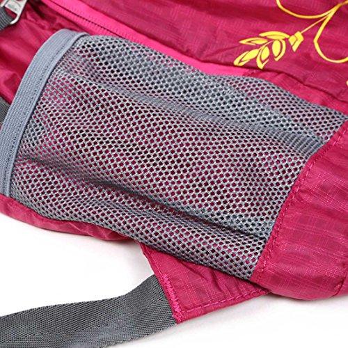 Hewolf 20L Ultra Leicht verstaubarer Rucksack Wandern Camping Outdoor Travel Radfahren Tagesrucksack wasserabweisend Faltbare Tasche rosarot