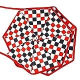 Seawang 3.2m Motif écossais à suspendre coloré Drapeau Coupon de Tissu fanions fête Décor Red