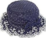 Blumenbogen-Fischer-Hut für Mädchen-Baby-Fischer-Hut Sonnenschutz-Hut