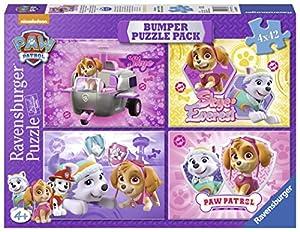 Paw Patrol Bumper Pack, Skye & Everest: puzzles 4 x 42 piezas (Ravensburger 06887)