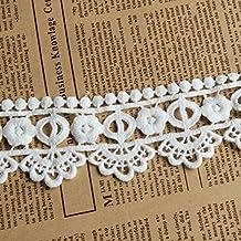 Marfil 5Metros 2pulgadas de ancho Grace Venise encaje vestido de encaje tela cinta cortina accesorios artesanía Encaje