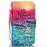 iPhone 4s Hülle,NSSTAR® Schutzhülle für iPhone 4s Hülle Wallet Cover Tasche Pink PU Leder Flip Case Handytasche Muster mit St