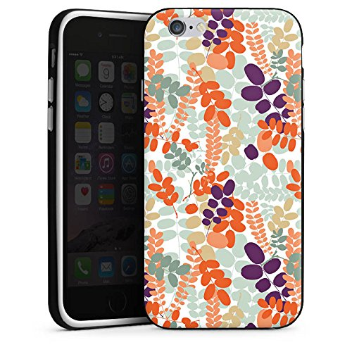 Apple iPhone 6 Housse Étui Silicone Coque Protection Ornements Motif Motif Housse en silicone noir / blanc