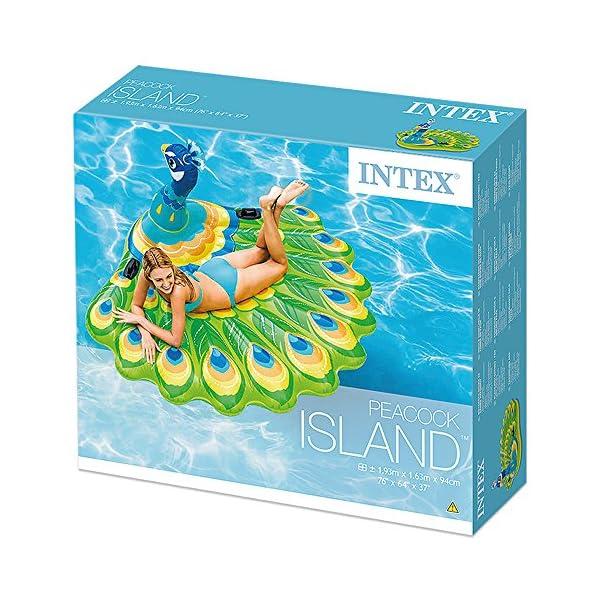 Intex 57250 - Isola Pavone, Multicolore, 193 x 163 x 94 cm 4 spesavip