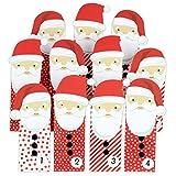 Papierdrachen DIY Adventskalender Weihnachtsmänner - mit roten Tüten - für Kinder - zum selber basteln und zum Befüllen