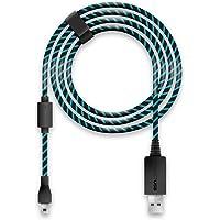 Lioncast Cavo Ricarica Controller per Xbox One e PS4, Copertura in Tessuto e con Chiusura in Velcro, Micro USB 2.0; 1 x…